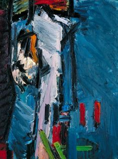 """terminusantequem: """"Frank Auerbach Figure on a Bed, Oil paint on board, 773 x 1023 mm """" Frank Auerbach, Painting For Kids, Figure Painting, Painting Art, Funky Art, Royal College Of Art, Abstract Portrait, Learn To Paint, Contemporary Paintings"""