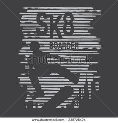 Skate sport typography, t-shirt graphics , vectors