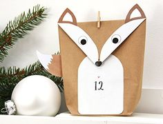 Advent Calendar - Advent Calendar Foxes DIY WHITE for Men Children - a De . - Advent Calendar – Advent Calendar Foxes DIY WHITE for men kids – a unique product by einfachsch - Homemade Advent Calendars, Diy Advent Calendar, Kids Calendar, Christmas Diy, Xmas, Christmas Ornaments, Holiday, Advent Season, Navidad Diy