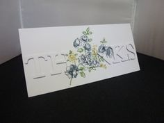 Creatin' and Stampin': Stamped Word Card Tutorial