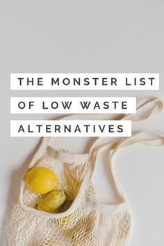 Waste Alternatives a HUGE list of low and zero waste alternatives to common household items!a HUGE list of low and zero waste alternatives to common household items! Zero Waste, Reduce Waste, Plastik Recycling, Monster List, Eco Friendly House, Carbon Footprint, Green Life, Sustainable Living, Sustainable Ideas
