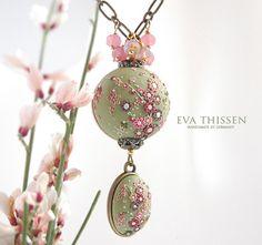 Eva Thissen polymer clay jewelry.  Love it.