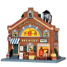 Lemax Christmas Village Building, Delaney & Sons Brewery