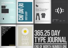 365+One Quarter // Type Journal by Ryan Atkinson, via Behance