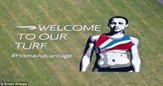 Britain's pride: The artwork is bigger than 15 tennis courts and 193 London buses