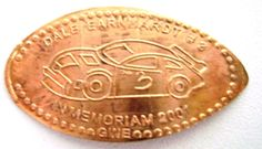 Elongated Pressed Penny DALE EARNHARDT # 3 - IN MEMORIAM 2001 - RETIRED