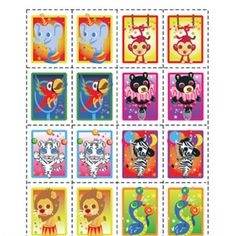 Silly Circus Performers Memory Game