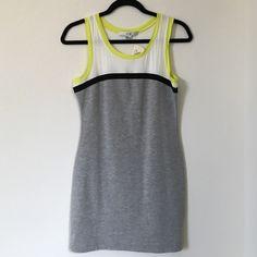 Fitted Mini Dress NWT Mini Dress NWT Size M grey bottom and black white neon green top XXI Dresses Mini