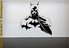 Nana is buying this wall decal to go in Ben's Bedroom.   Batman Wall Decals by SNYGraphics on Etsy, $8.00