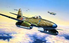 Aviãos Desenhado messerschmitt, me-262a1a, luftwaffe Aviação