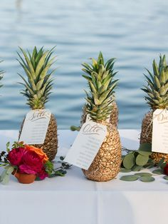 Want to add a tropical twist to your wedding day? Take a look at these 15 stylish ways to add pineapples to your wedding decor.