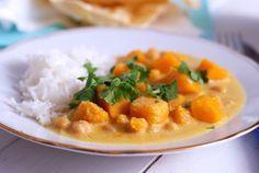 dýňové kari s cizrnou Risotto, Curry, Ethnic Recipes, Food, Curries, Essen, Meals, Yemek, Eten
