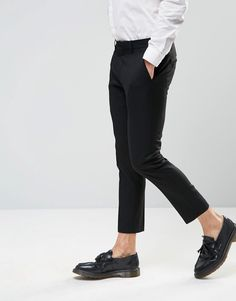 Selected Homme Cropped Skinny Fit Pants with Stretch