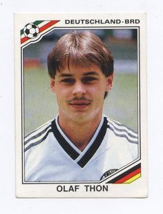 panini sticker mexico 86 world cup germany 1986 olaf thon #303 from $1.45