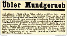 Original-Werbung/ Anzeige 1930 er Jahre - CHLORODONT - ca. 90 x 45 mm