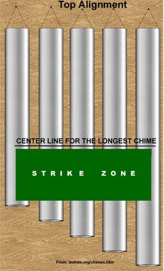 Strike Zone for Top Alignment Large Wind Chimes, Wind Chimes Craft, Diy Home Crafts, Diy Arts And Crafts, Garden Crafts, Tubular Bells, Wind Spinners, Old Tools, Suncatchers