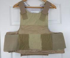 Custom Armor Technologies CAT Coyote Tan Low Vis Soft Body Armor Plate Carrier M #CustomArmorTechnologiesCAT