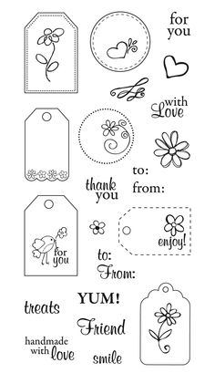 Craft me a card: Fiskars Stamps for Sale Card Tags, Gift Tags, Handmade Tags, Bullet Journal Ideas Pages, Paper Tags, Clear Stamps, Scrapbook Cards, Homemade Cards, Sewing Crafts