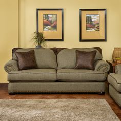 Christopher Knight Devon Patched Leather Tweed Beige Sofa with Rolled Arm | Overstock™ Shopping - Great Deals on Christopher Knight Home Sofas & Loveseats