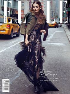 Elle Poland October 2013 Cover  In this picture:  Zuzanna Bijoch Credits for this picture:  Kevin Sinclair (Photographer)  Deycke Heidorn (Hair Stylist)  Manami Ishikawa (Makeup Artist)