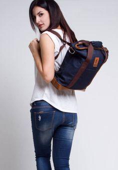 image Blue Denim, Dark Blue, Backpacks, Bags, Fashion, Handbags, Moda, Deep Blue, Fashion Styles