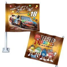 """KYLE BUSCH OFFICIAL 12""""X14""""X21"""" NASCAR CAR FLAG"""
