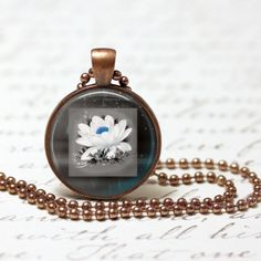 421. Cool Blue Hand Crafted Pendant