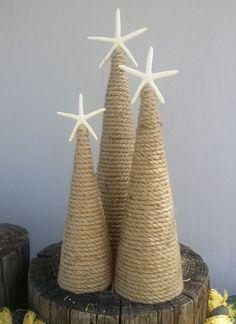 Nautical Rope Starfish Tree Natural Coastal by seashellsbyseashore