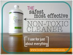 The safest, most effective non-toxic cleaner (for just about everything) - @Anita Martin Body Unburdened