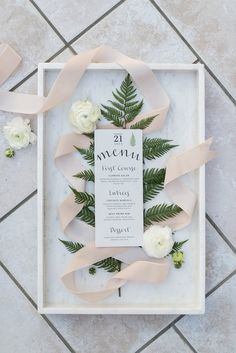 botanical inspired menu - photo by Sweet Root Village http://ruffledblog.com/winter-art-gallery-wedding