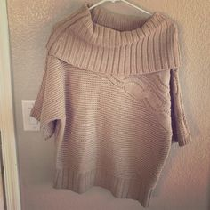 Gold/brown sweater Gold/brown sweater shirt sleeve with thick collar Sweaters Shrugs & Ponchos