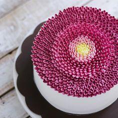 Repost motomakan Beautiful buttercream flower cake @ivenoven