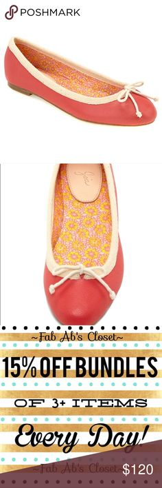 Joie Lighthouse Ballet Flats Super cute coral and cream ballet leather flats with cream bow on toe. like new condition! 👗Fab Ab's Closet; Re-Styled Resale 👗 🎀15% OFF 3+ ITEM BUNDLES🎀 👉🏻PLEASE USE OFFER BUTTON👈🏻 ❌NO PP, TRADES, HOLDS❌  🛍ITEMS ALWAYS 100% AUTHENTIC🛍 👑SUGGESTED USER👑 Joie Shoes Flats & Loafers