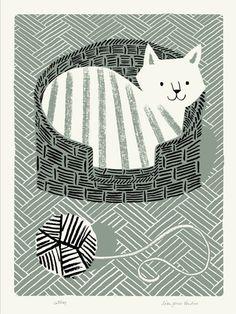 Gatito ilustrado