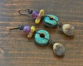 Desert Tears earrings - Artisan, Dangle, Bohemian, Natural