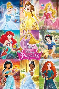 Disney Princess - Collage - Official Poster. Official Merchandise. Size: 61cm x 91.5cm. FREE SHIPPING