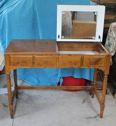 Ethan Allen CRP One Drawer Vanity Maple Birch | $399 on eBay.