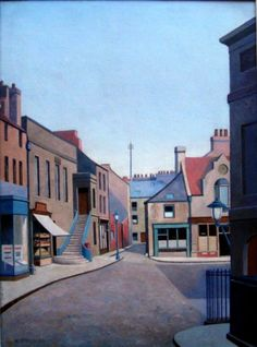 """Alnwick"" by Harold Steggles from 1936 Camden London, Camden Town, London Art, East London, London Painting, Brick Lane, Group Pictures, Illustrations, Art Music"