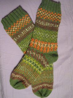 Summary Top-down, fair isle pattern, set of four double-pointed needles.
