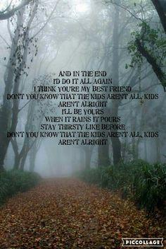 The kids aren't alright lyrics by Francis Plotke