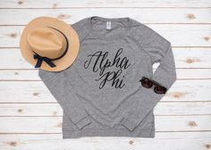 Alpha Phi Long Sleeve Pullover by thegreeksupply on Etsy
