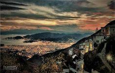 Η θέα του Βόλου από το Πήλιο  Amazing view of Volos town from Pelion