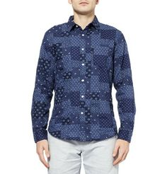 J.Crew Slim-Fit Printed Patchwork Cotton Shirt