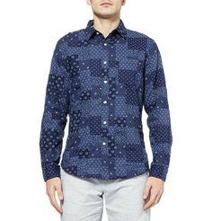 J.CrewSlim-Fit Printed Patchwork Cotton Shirt