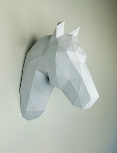 This White Horse Wall Trophy Will Make Your Look Amazing WallArt