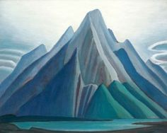 Mountain on the Athabasca River (Mountain sketch XCI) by Lawren Harris, Group of Seven Tom Thomson, Canadian Painters, Canadian Artists, American Artists, Group Of Seven Artists, Group Of Seven Paintings, Emily Carr, Mountain Sketch, Mountain Art