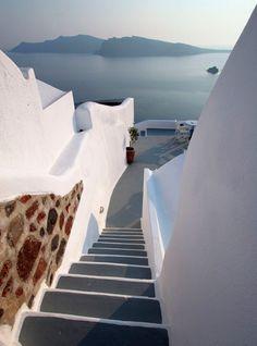 down...    greece greek santorini