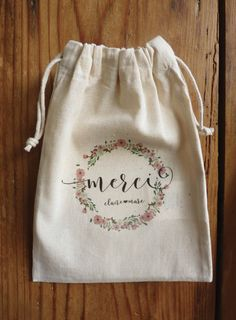 """tote bag or pouch """"country"""" Craft Packaging, Jewelry Packaging, Packaging Design, Gift Wraping, Baby Clip Art, Personalised Canvas, Creation Couture, Handmade Jewelry Designs, Clothing Labels"""