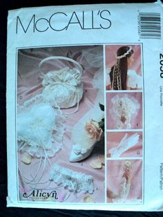 Bridal Accessories Pattern  McCall's Crafts by DocksideDesignsEtc, $9.00