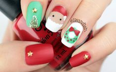 Freehand Matte Christmas Nails + HOLIDAY GIVEAWAY #2!